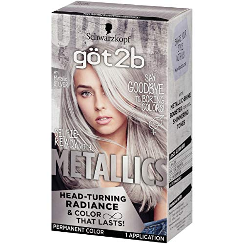 (Got2b Metallic Permanent Hair Color, M71 Metallic Silver)