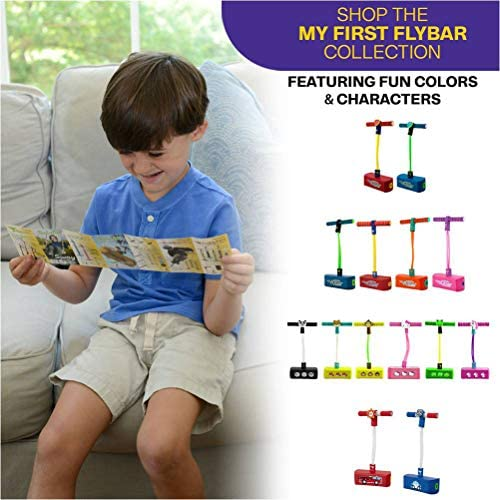 Flybar My First Foam Pogo Jumper for Kids Fun and Safe Pogo Stick for Toddlers, Durable Foam and Bungee Jumper for Ages 3 and up, Supports as much as 250lbs