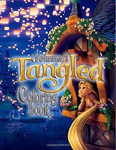 - Tangled Coloring Book: 50 Rapunzel Princess Design Funny Coloring Books For  Kids And Girls: Books, Princess: 9781703641288: Amazon.com: Books