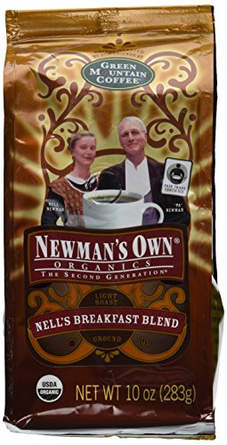 Newman's Own Oganics, Newman's Breakfast Blend (formerly Nell's Breakfast Blend) Ground Coffee, 10-Ounce Bag (Pack of 2)