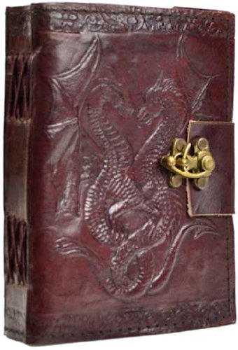 UPC 616919024046, Double Dragon Leather Journal Diary with Latch