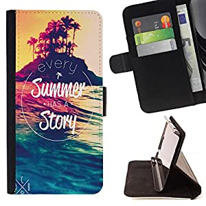 - Summer Story - - Style PU Leather Case Wallet Flip Stand Flap Closure Cover FOR HTC DESIRE 816 - Devil Case -