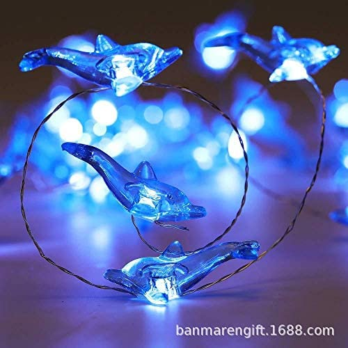 Led Weihnachtslichterkette dekorative Lichterkette Marine Delphin Serie Lichterketten Fall Kupfer Lampe Batterie ( Size : Battery )