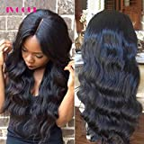 Pre Plucked 13X6inch Deep Part Lace Front Human Hair Wigs With Baby Hair For Black Women Malaysian Soft Virgin Hair (14inch)