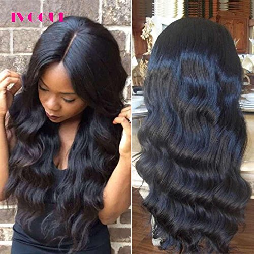 Pre Plucked 13X6inch Deep Part Lace Front Human Hair Wigs With Baby Hair For Black Women Malaysian Soft Virgin Hair (18inch) by iVogue Hair