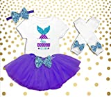Girl's 6th Birthday Outfit, Mermaid Birthday Shirt, Mermaid 6th Birthday Outfit, Mermaid Birthday Party Outfit, Mermaid Birthday Tutu