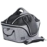 Petsfit Mobile Pet Bed Pet Safe Car Seat&Carrier With Mesh Dome Top, for Small Pet Up to 20 Pounds Large 20''Lx17''Wx16''H
