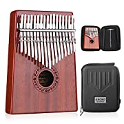 #LightningDeal GECKO Kalimba 17 Keys Thumb Piano with Waterproof Protective Box,Tune Hammer and Study Instruction,Portable Mbira Sanza Finger Piano,Gift for Kids Adult Beginners Professional