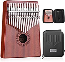 GECKO Kalimba 17 Keys Thumb Piano with Waterproof Protective Box,Tune Hammer and Study Instruction,Portable Mbira Sanza...