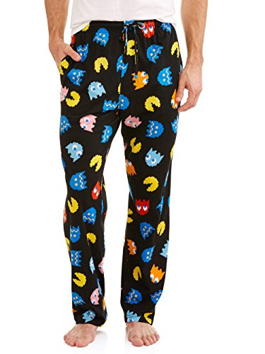 Namco Mens Pac-Man Sleep Pants (X-Large, Black)