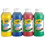 Crayola 4-Count of 237 ml Washable Paint, School, Craft, Painting and Art Supplies, Kids, Ages 3,4, 5, 6 and Up, Holiday Toys