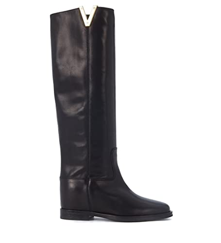 Perfect Discounts Via Roma Stivale in pelle liscia nera women's High Boots in Outlet New Styles 100% Authentic Online ypn3hpGP