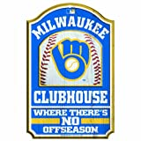 MLB Milwaukee Brewers-Retro 11/17-Inch Traditional Look Wood Sign