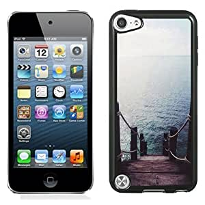 NEW Unique Custom Designed iPod Touch 5 Phone Case With Pier Dock Ocean View_Black Phone Case