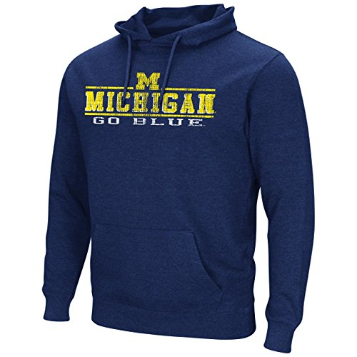 Michigan Wolverines Adult Vintage Icon Logo Hoody - Navy , Medium (Golf Vintage Sweatshirt)