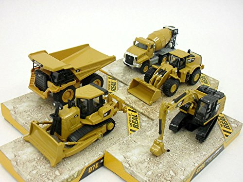 CAT 320E, D7E , 980K, 777G, CT660 (Set of 5 Vehicles) Scale Diecast Metal (Scale Diecast Cat)