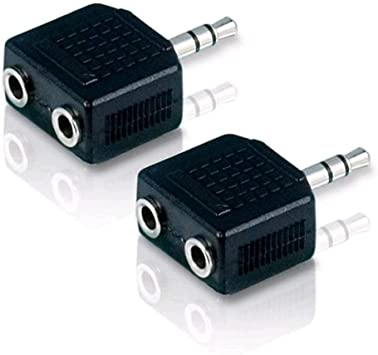 3,5mm Stereo Splitter Audio zu Mic /& Headset Klinkenstecker Adapter W3Z3