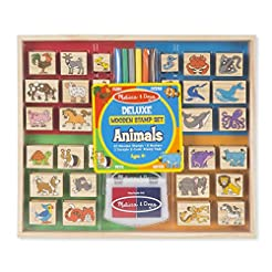 Melissa & Doug Deluxe Wooden Stamp Set, ...