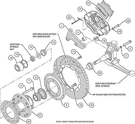 Amazon Com New Wilwood Front Disc Brake Kit 11 Rotors Black
