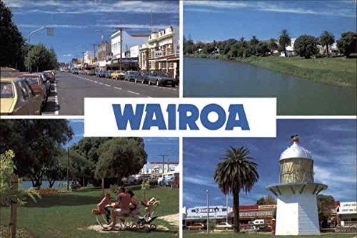 Zealand Bay Hawkes New (Various Views of Town - Northern Hawke's Bay Wairoa, New Zealand Original Vintage Postcard)