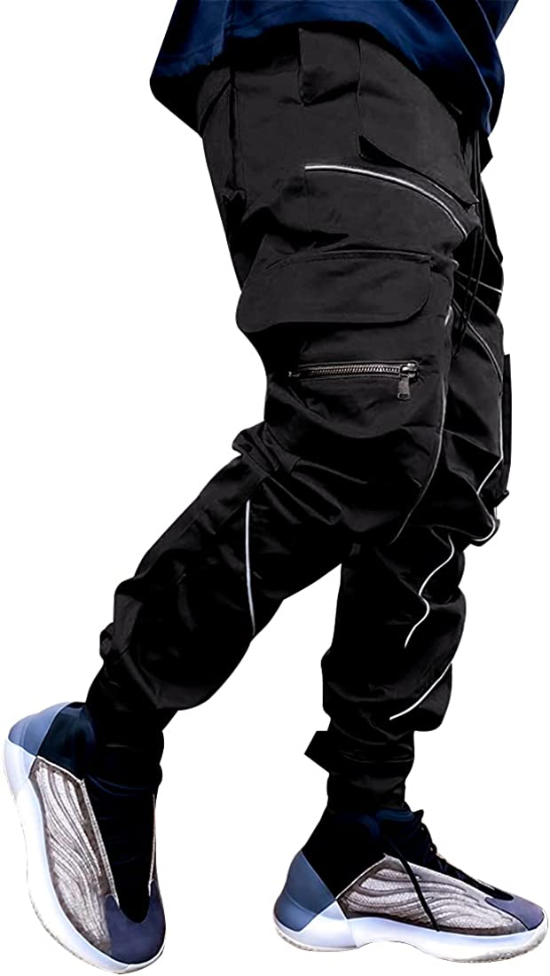 Joggers for Men Outdoor Hiking Pants Quick Dry Waterproof Running Track Pants with Zipper Pockets