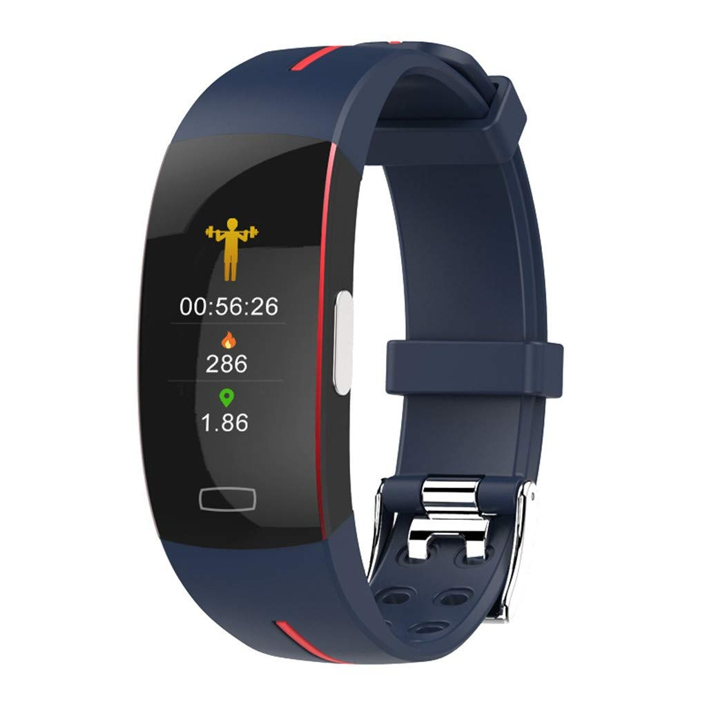 TADAMI Smart Watch Color Screen Heart Rate ECG Bracelet Wristband for iOS Android (C)