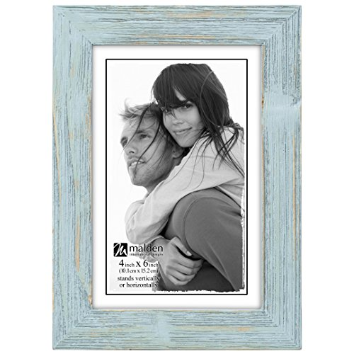 Malden International Designs Linear Picture Frame, 4x6, Seafoam Blue