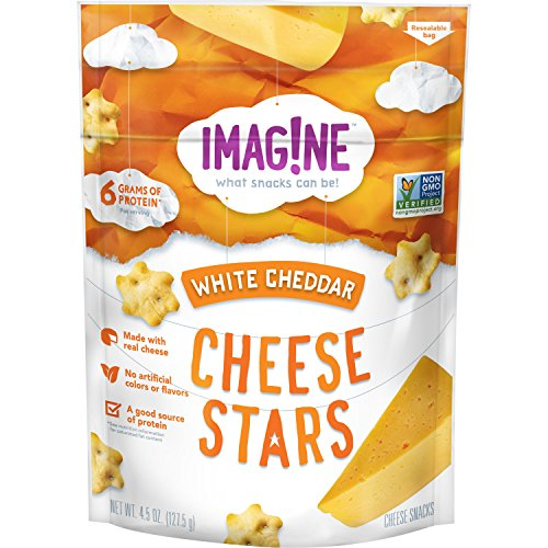 (Imag!ne White Cheddar Cheese Stars, 4.5 Ounce)