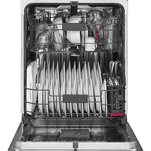 "GE PDT845SMJES Profile™ Series 24"" Hidden Control Tall Tub Built-In Dishwasher with Stainless Steel Slate"