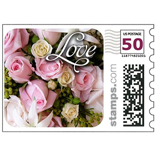 delicate USPS Love Wedding Roses Stamps - Sheet of 20 - Like