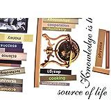 uxcell Book Shelf Pattern Study Decor Wall Sticker Decal Wallpaper 50 x 70cm