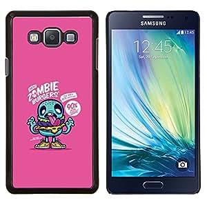 YiPhone /// Prima de resorte delgada de la cubierta del caso de Shell Armor - zombi púrpura dibujo lindo aplicación del juego - Samsung Galaxy A7 A7000