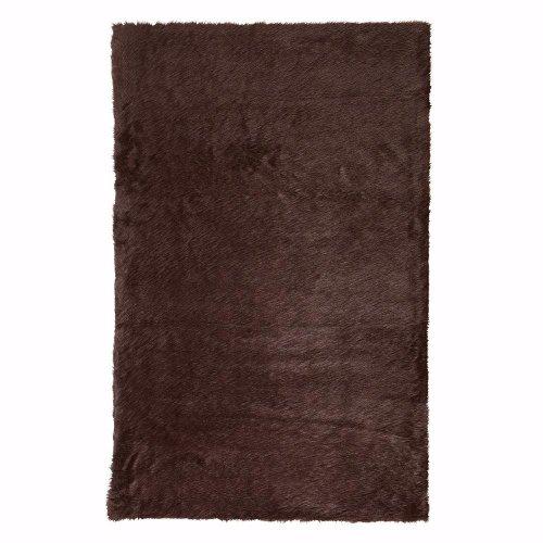 Decorator Chocolate (Faux Sheepskin Area Rug, 8'X11', Chocolate)