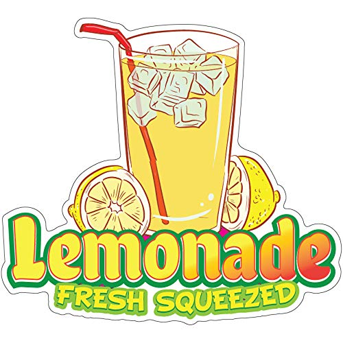 "SignMission Lemonade Fresh Squeezed 16"" Decal Concession Stand Food Truck Sticker, Size"
