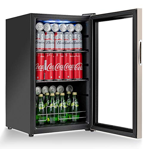 Costway Beverage Refrigerator Portable Mini Beer Wine Soda D