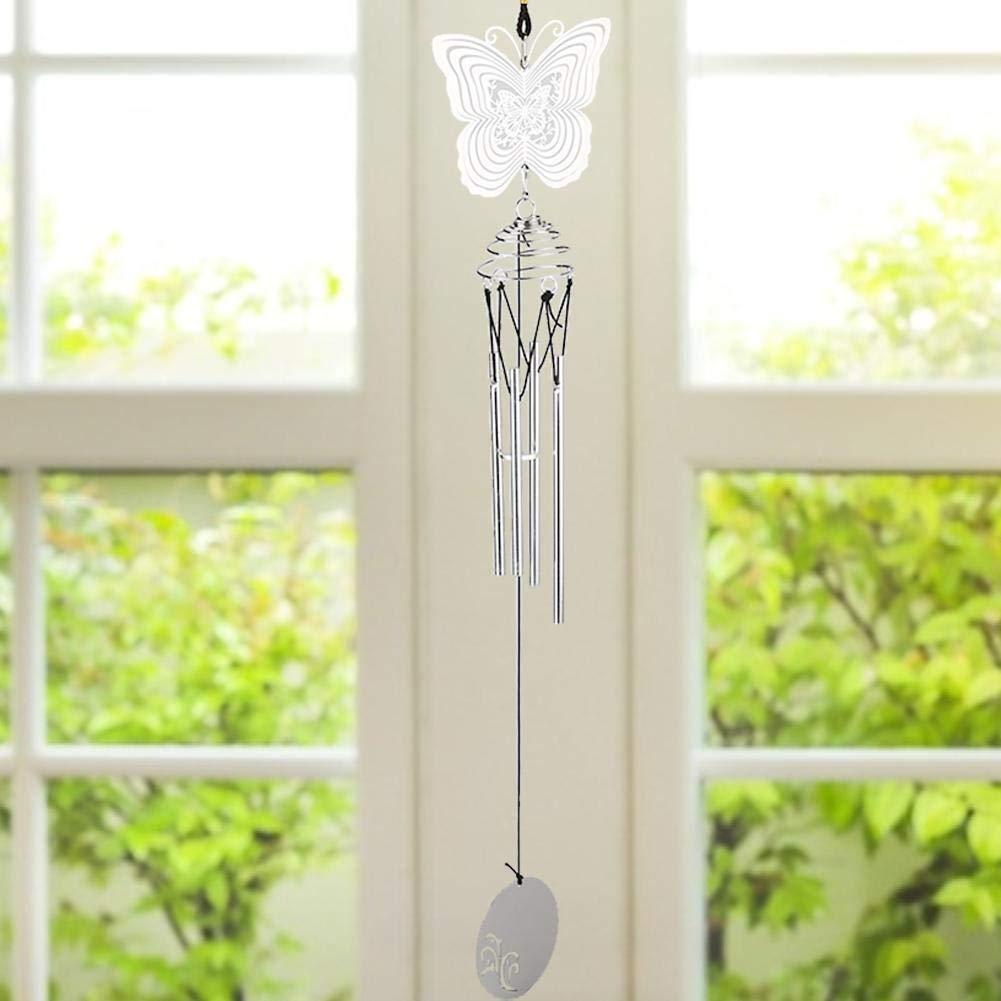 Cloche /à vent c/œur carillons /éoliens Fen/être rotative suspendue d/écor vent cloche maison ornement d/écor de jardin d/écorations pour la maison pour salon tournant carillons /éoliens