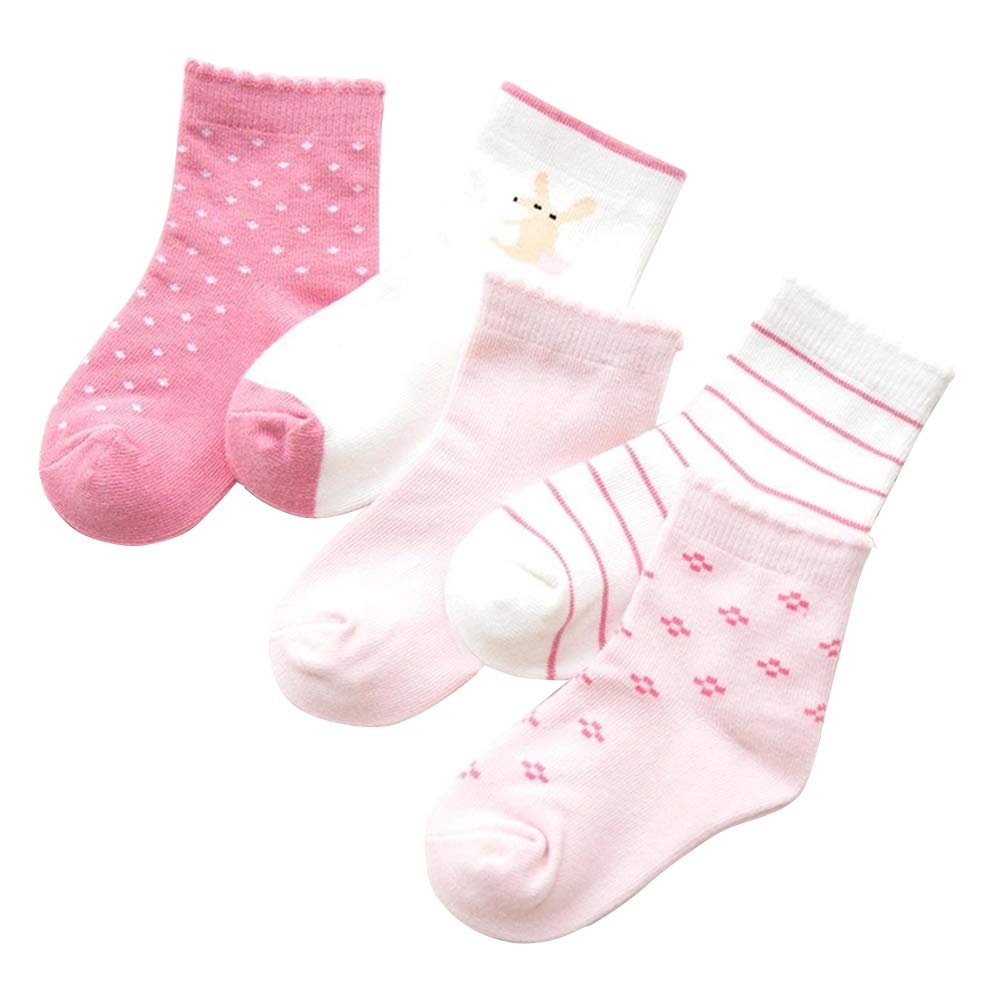 Happy Cherry Baby Boys Socks Warm Cotton Soft Sock Stretchy Ankle Socks Non Skid Socks Pack of 5 for 5-8T HR01FEQ0003L