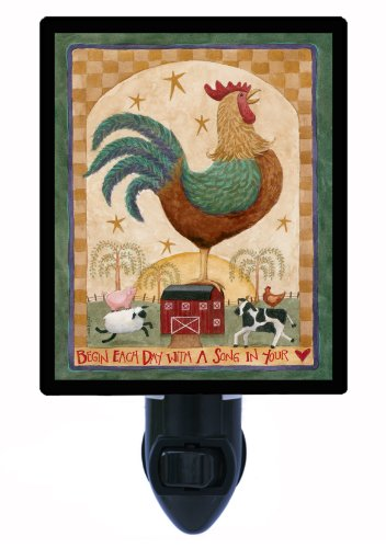 Country and Folk Style Night Light, Rooster, LED Night Light