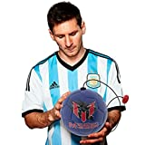 Leo Messi Soccer Ball | Take Your Skills to the Next Level | Solo Youth Soccer Football Kick Throw Trainer with Adjustable Control Cord | Perfect for Kids Soccer Practice & Drills, Size 2