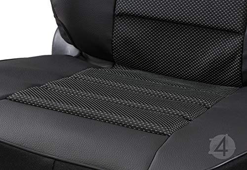 Z4L Kunstleder /Überzug Carbon Universell Sitzschoner TX-CARBON-1STK-293 Starkes Material Schwarz Nur 1 STK