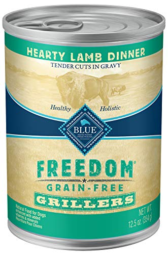 Blue Freedom Grillers Adult Grain Free Hearty Lamb Wet Dog Food 12.5Oz (Pack Of 12)