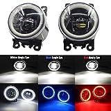 Cawanerl ALL-S-181021 Car Accessories LED Fog Light Angel Eye DRL Daytime Running Light 12V