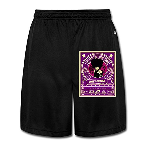 Logon 8 Men's Sly And The Family Stone 3 Personalize Athletic Running Black M