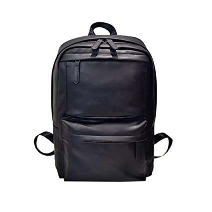a04f6663b7c2 Tootu Men s Women s Leather Backpack Laptop Satchel Travel School Rucksack  Bag ...