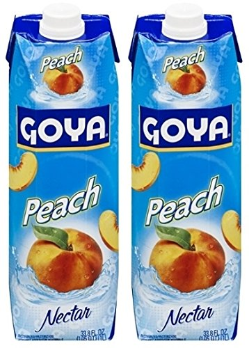 Goya Peach Nectar 33.8 Fl.Oz. (Pack of 02)