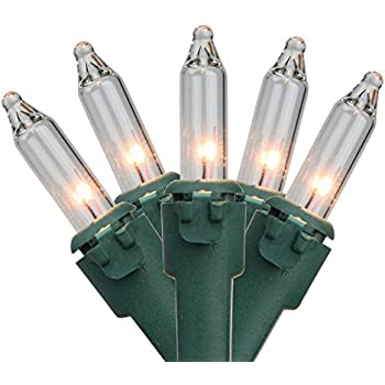 Amazon.com : Novelty Lights 20 Light Clear Christmas Craft Mini ...