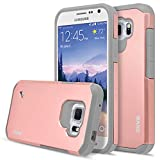 S6 Active Case, Galaxy S6 Active Case, RANZ Grey with Rose Gold Hard Impact Dual Layer Shockproof Bumper Case For Samsung Galaxy S6 Active (G890)