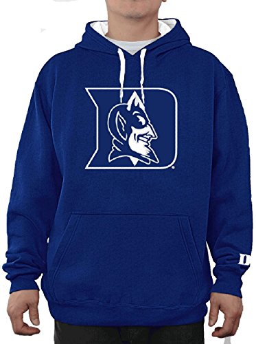 E5 Duke Blue Devils Mens Royal Embroidered Icon Hoodie Sweatshirt (L=44)