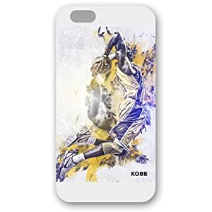 (TCustomized White Frosted Case For Iphone 6 4.7Inch Cover Case, NBA Superstar Lakers Kobe Bryant Case For Iphone 6 4.7Inch Cover Case, Only Fit Case For Iphone 6 4.7Inch Cover Case