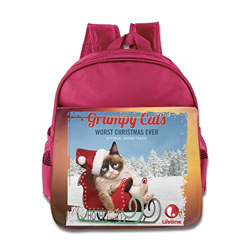 Grumpy Cat's Worst Christmas Ever Kids School Pink Backpack (Sara Hobo)
